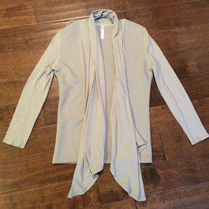 Fabletics Grey Open Cardigan Yoga Wrap - Flaw, L
